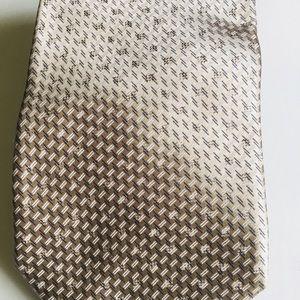 ERMENEGILDO ZEGNA Silk Taupe Brown Tie ITALY.